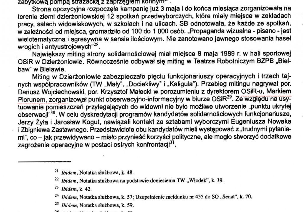 Ewa Chabros wybory czerwcowe 1989 rocznik dzierżoniowski 2009