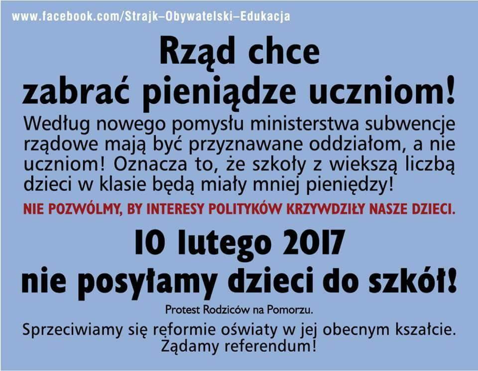 Strajk Szkolny 10 luty 2017