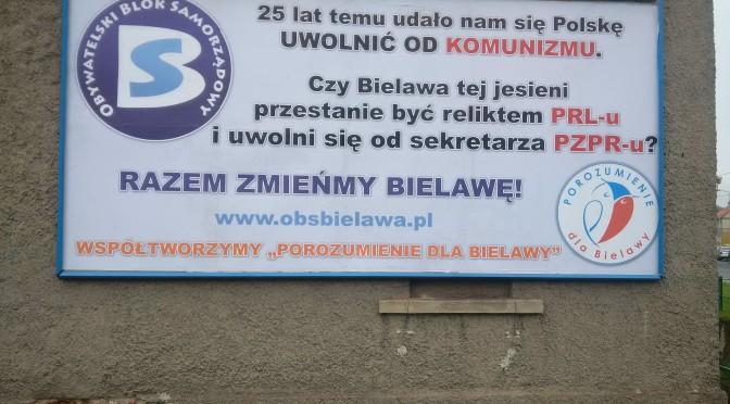 W Bielawie już się zaczęła kampania … hipokryzji